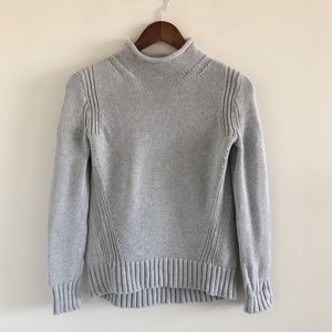 J. Crew 1988 Rollneck 100% Cotton Sweater Gray XS